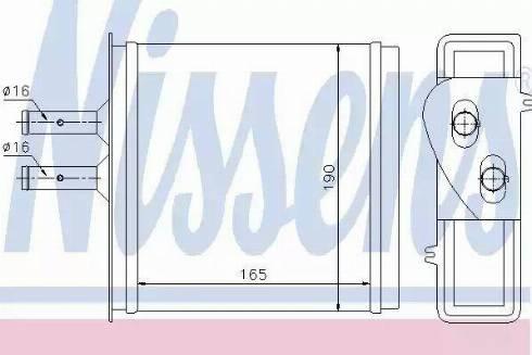 Nissens 71442 - Heat Exchanger, interior heating uk-carparts.co.uk