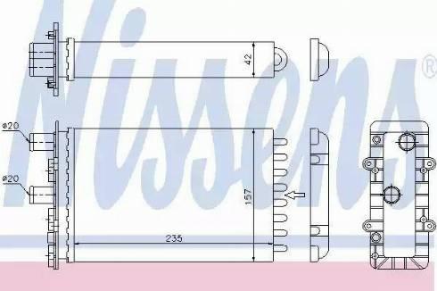 Nissens 73974 - Heat Exchanger, interior heating uk-carparts.co.uk