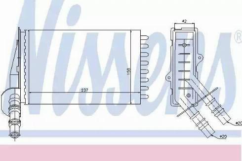 Nissens 73374 - Heat Exchanger, interior heating uk-carparts.co.uk