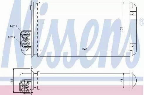 Nissens 73255 - Heat Exchanger, interior heating uk-carparts.co.uk