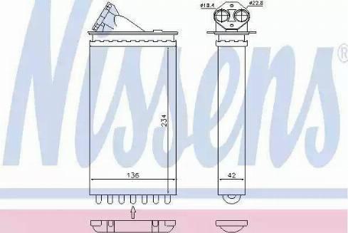 Nissens 72655 - Heat Exchanger, interior heating uk-carparts.co.uk