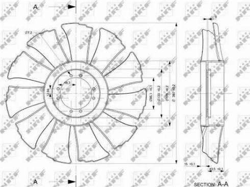 NRF 49846 - Fan Wheel, engine cooling uk-carparts.co.uk