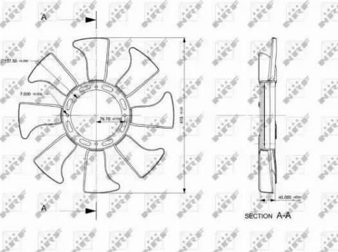 NRF 49867 - Fan Wheel, engine cooling uk-carparts.co.uk