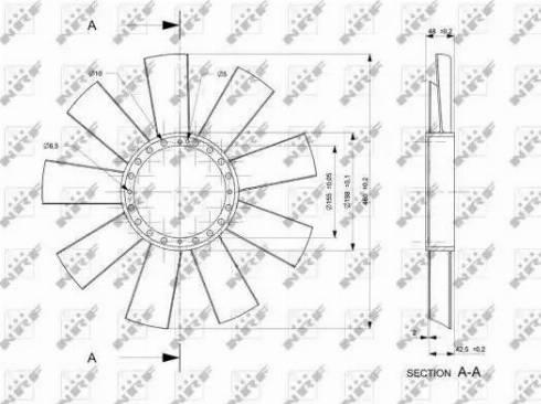 NRF 49811 - Fan Wheel, engine cooling uk-carparts.co.uk