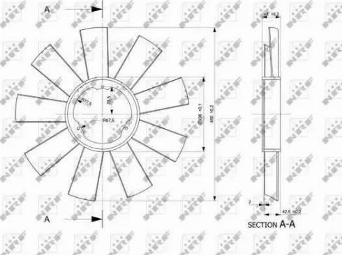 NRF 49812 - Fan Wheel, engine cooling uk-carparts.co.uk