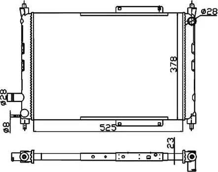 NRF 55326A - Cooler, drive battery uk-carparts.co.uk