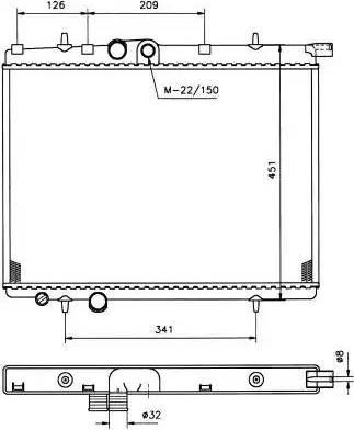 NRF 509525 - Cooler, drive battery uk-carparts.co.uk