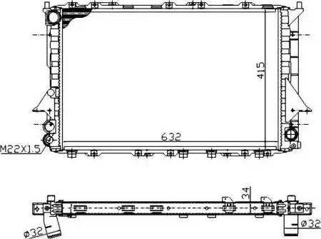 NRF 51320A - Cooler, drive battery uk-carparts.co.uk