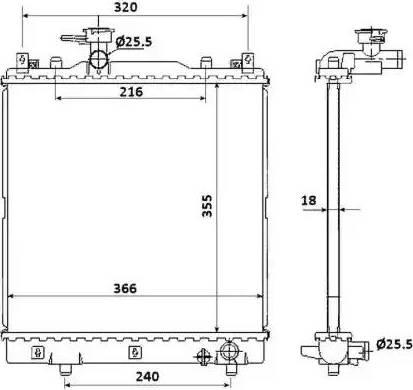 NRF 58353 - Cooler, drive battery uk-carparts.co.uk