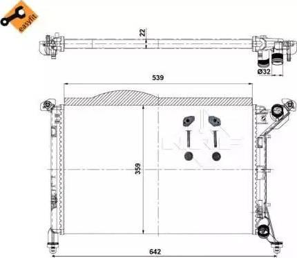 NRF 53969 - Cooler, drive battery uk-carparts.co.uk