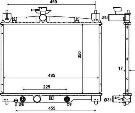 NRF 53599 - Cooler, drive battery uk-carparts.co.uk