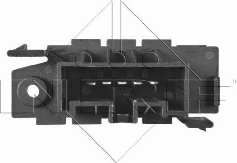 NRF 342012 - Resistor, interior blower uk-carparts.co.uk