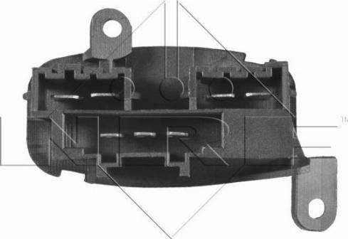 NRF 342022 - Resistor, interior blower uk-carparts.co.uk