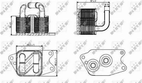 NRF 31265 - Oil Cooler, automatic transmission uk-carparts.co.uk