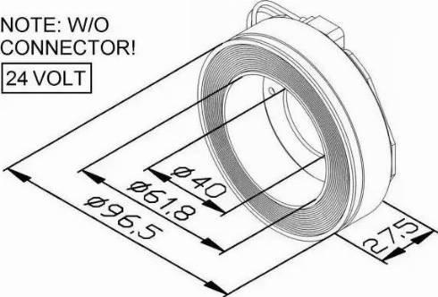 NRF 38448 - Coil, magnetic-clutch compressor uk-carparts.co.uk