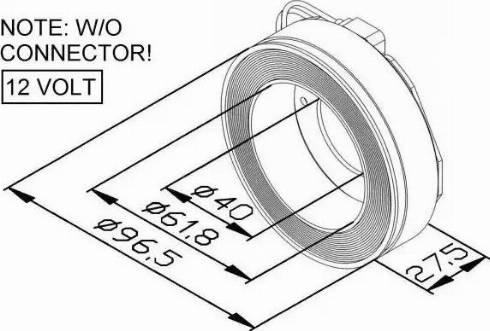 NRF 38447 - Coil, magnetic-clutch compressor uk-carparts.co.uk