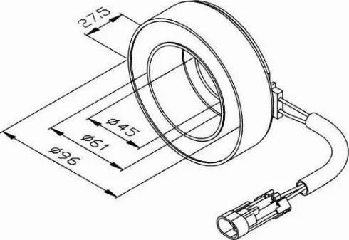 NRF 38470 - Coil, magnetic-clutch compressor uk-carparts.co.uk