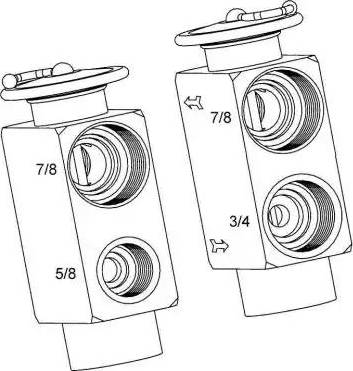 NRF 38393 - Expansion Valve, air conditioning uk-carparts.co.uk