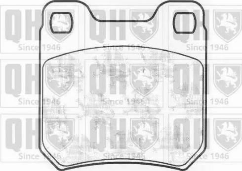 Quinton Hazell BP459 - Brake Pad Set, disc brake uk-carparts.co.uk
