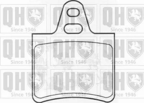 Quinton Hazell BP265 - Brake Pad Set, disc brake uk-carparts.co.uk