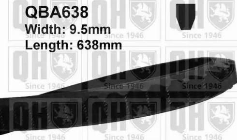 Quinton Hazell QBA638 - V-Belt uk-carparts.co.uk