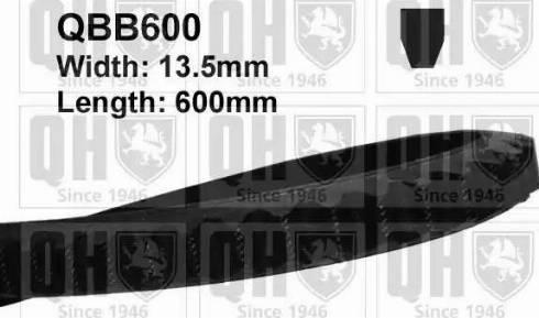 Quinton Hazell QBB600 - V-Belt uk-carparts.co.uk