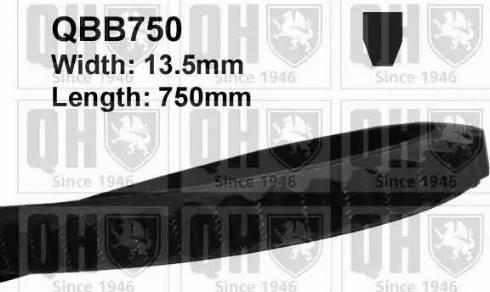 Quinton Hazell QBB750 - V-Belt uk-carparts.co.uk