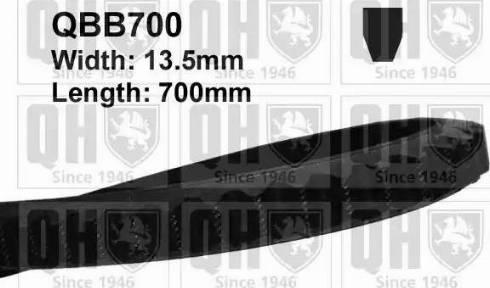Quinton Hazell QBB700 - V-Belt uk-carparts.co.uk