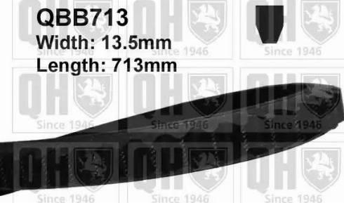 Quinton Hazell QBB713 - V-Belt uk-carparts.co.uk