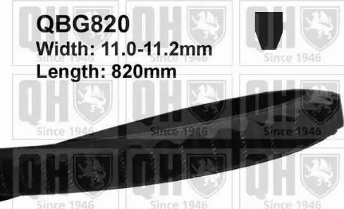 Quinton Hazell QBG820 - V-Belt uk-carparts.co.uk