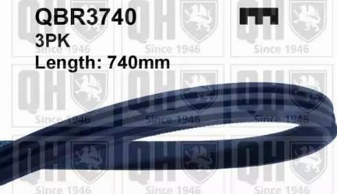 Quinton Hazell QBR3740 - V-Ribbed Belts uk-carparts.co.uk