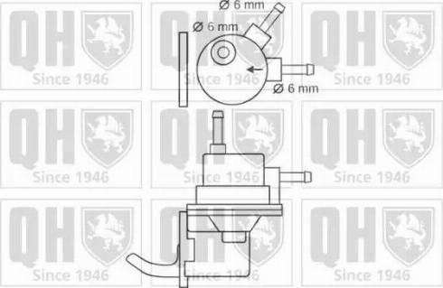 Quinton Hazell QFP48 - Fuel Pump uk-carparts.co.uk
