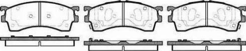 BOSCH 986460975 - Brake Pad Set, disc brake uk-carparts.co.uk
