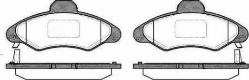 BOSCH 986424644 - Brake Pad Set, disc brake uk-carparts.co.uk