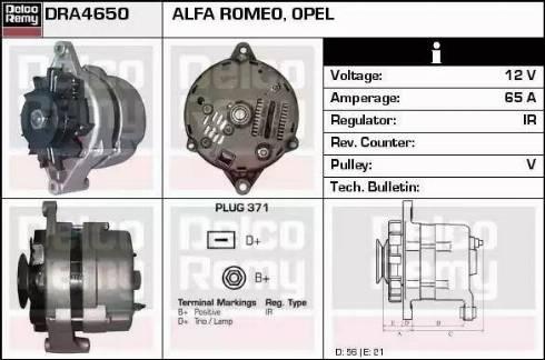 Remy DRA4650 - Alternator uk-carparts.co.uk