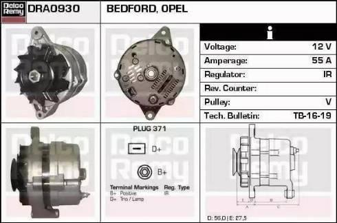 Remy DRA0830 - Alternator uk-carparts.co.uk