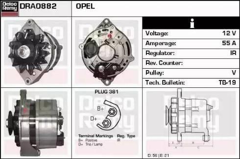 Remy DRA0882 - Alternator uk-carparts.co.uk