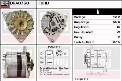 Remy DRA0760 - Alternator uk-carparts.co.uk
