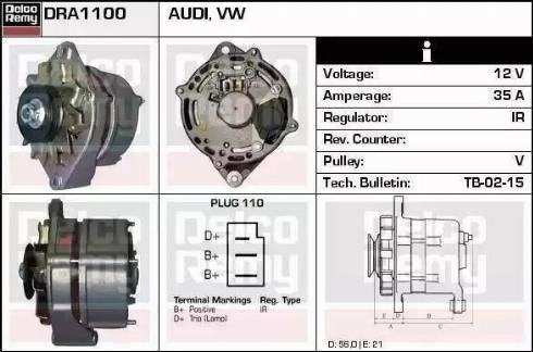 Remy DRA6060 - Alternator uk-carparts.co.uk