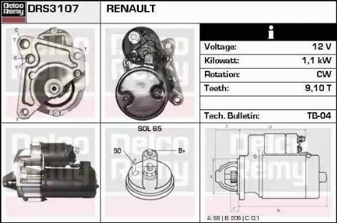 Remy DRS3107 - Starter uk-carparts.co.uk