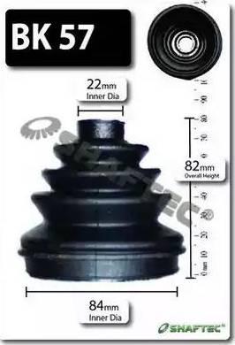 Shaftec BK57 - Bellow Set, drive shaft uk-carparts.co.uk