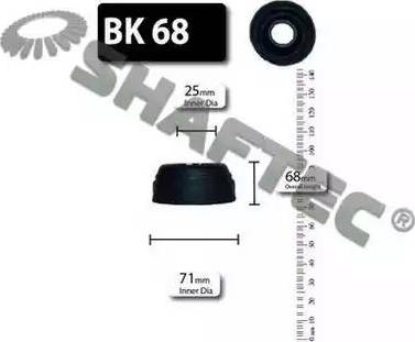 Shaftec BK68 - Bellow Set, drive shaft uk-carparts.co.uk