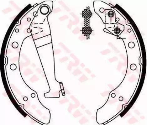 BOSCH 986487536 - Brake Set, drum brakes uk-carparts.co.uk