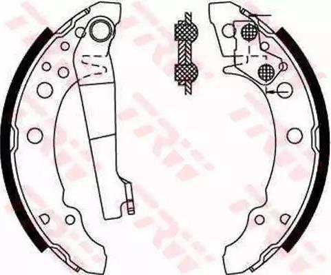 BOSCH 986487002 - Brake Set, drum brakes uk-carparts.co.uk