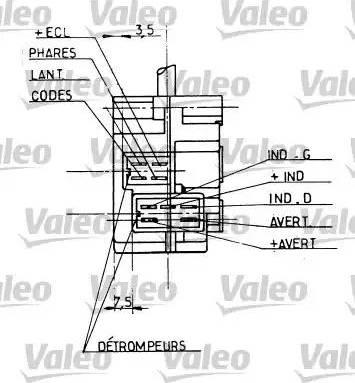 Valeo 251206 - Steering Column Switch uk-carparts.co.uk