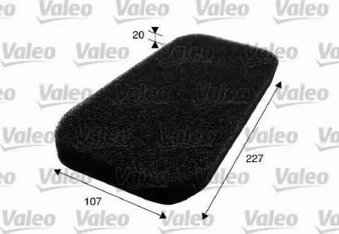Valeo 716001 - Filter, interior air uk-carparts.co.uk