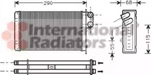 Nissens 72935 - Heat Exchanger, interior heating uk-carparts.co.uk