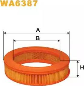 WIX Filters WA6387 - Air Filter uk-carparts.co.uk