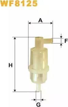 WIX Filters WF8125 - Fuel filter uk-carparts.co.uk
