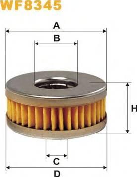 WIX Filters WF8345 - Fuel filter uk-carparts.co.uk